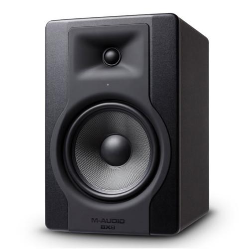 Зображення активного студійного монітора M-Audio BX8 D3 – Front Right Side View | Leader Promusic