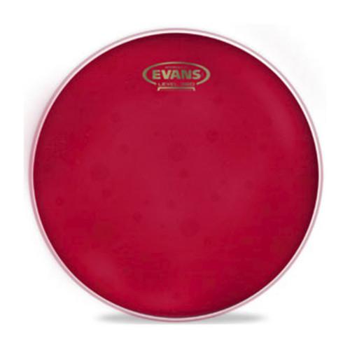 Изображение рабочего пластика для тома Evans TT14HR 14 Hydraulic Red – Front Side View | Leader Promusic