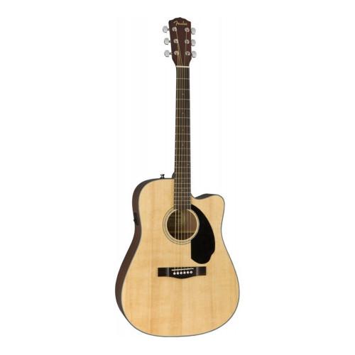 Изображения электроакустической гитары Fender cd-60sce Natural – Front Side View | Leader Promusic