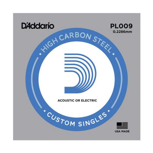 Изображение струни D`Addario PL009  - Front Side View|Leader Promusic