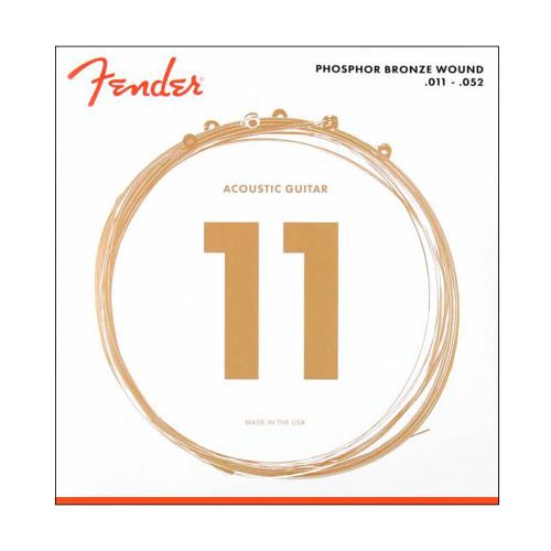 Изображение струн Fender 60CL - Front Side View Leader Promusic