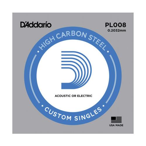 Изображение струни D`Addario PL008 - Front Side View|Leader Promusic