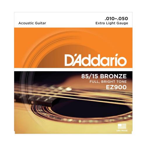 Изображение струн для акустической гитары D'Addario EZ900 – Front Side View|Leader Promusic