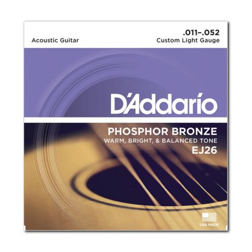 Изображение струн D'Addario EJ26 - Front Side View|Leader Promusic