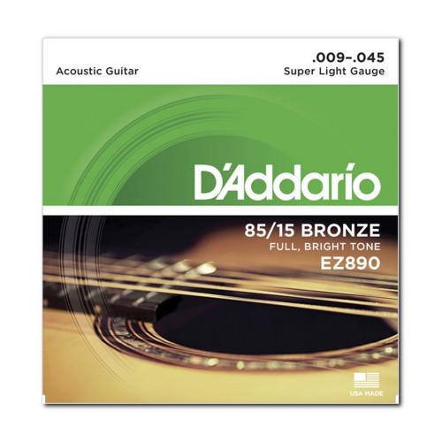 Изображение струн D'Addario EZ890 - Front Side View|Leader Promusic