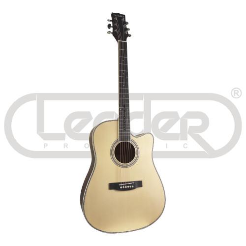 Изображение акустической гитары Parksons JB4111C NAT – Front Side View   Leader Promusic