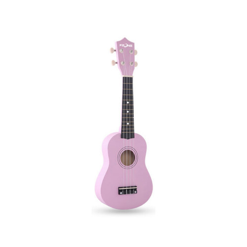 Изображение укулеле сопрано Fzone FZU-002 Pink – Front Left Side View | Leader Promusic