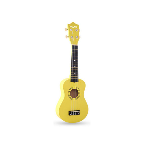 Зображення укулеле сопрано Fzone FZU-002 Yellow – Front Left Side View | Leader Promusic