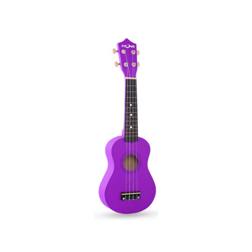 Зображення укулеле сопрано Fzone FZU-002 Purple – Front Left Side View | Leader Promusic