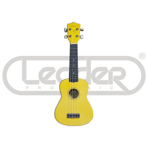 Зображення укулеле сопрано Parksons UK21L Yellow – Front Left Side View | Leader Promusic
