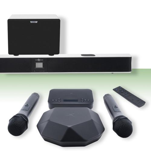 Изображение готового решения караоке-комплекта для офиса и дома Online X-Evo S WH| Leader Promusic