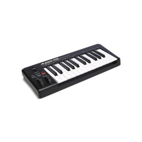 Изображение Midi клавиатуры Alesis Q25 - Front Left Side View|Leader Promusic