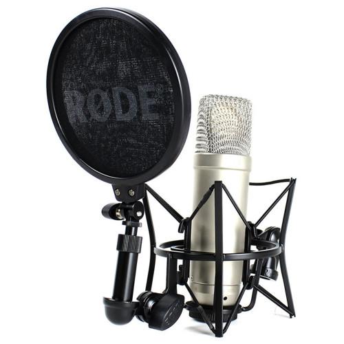 Изображение студийного конденсаторного микрофона Rode NT1-A – Front Side View | Leader Promusic