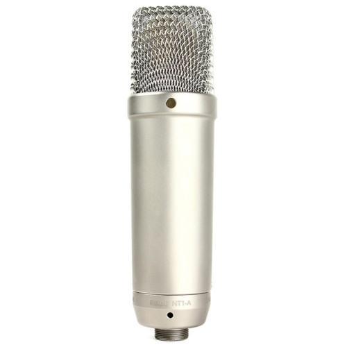 Зображення студійного конденсаторного мікрофона Rode NT1-A – Front Side View | Leader Promusic