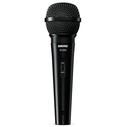 Изображение ручного микрофона Shure SV200-A – Front Side View|Leader Promusic