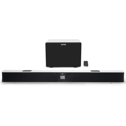 Изображение саундбара EvoSound Bar 2.1 WH – Front Side View | Leader Promusic