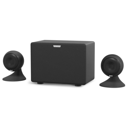 Зображення аудіосистеми для караоке EvoSound Sphere 2.1 BK – Front Right Side View | Leader Promusic