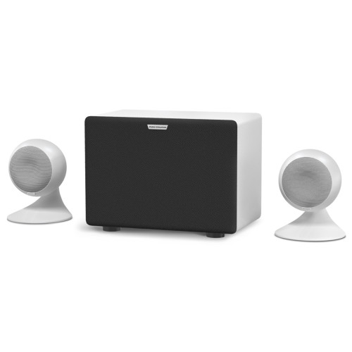 Изображение аудиосистемы для караоке EvoSound Sphere 2.1 WH – Front Right Side View | Leader Promusic