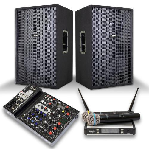 Зображення готового рішення аудіо комплекту LPM STAGE 2 – Set Side View | Leader Promusic