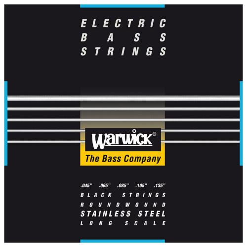 Зображення струн для бас-гітари – Warwick 40301 Black Label Medium – Front Side View | Leader Promusic