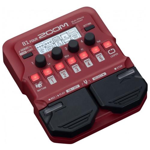 Изображение гитарного процессора Zoom B1 Four | Leader Promusic